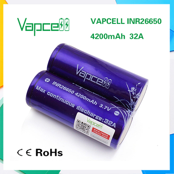 high-performance battery Vapcell26650 4200mAh 32A high quality rechargeable lithium battery