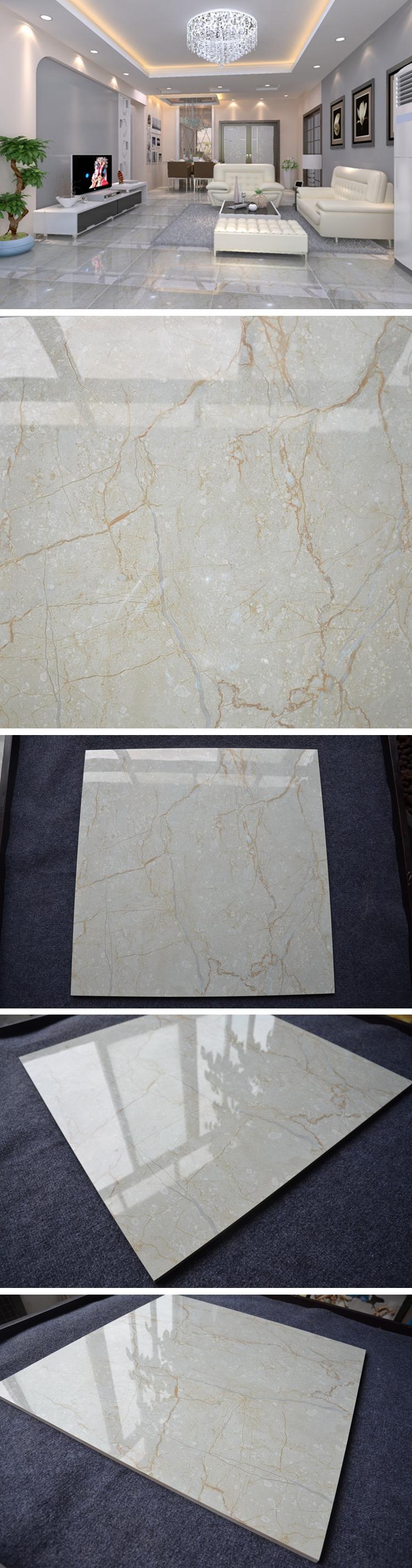 HB6201 brasileiro cor brilhante mármore perlino bianco telha cerâmica do assoalho