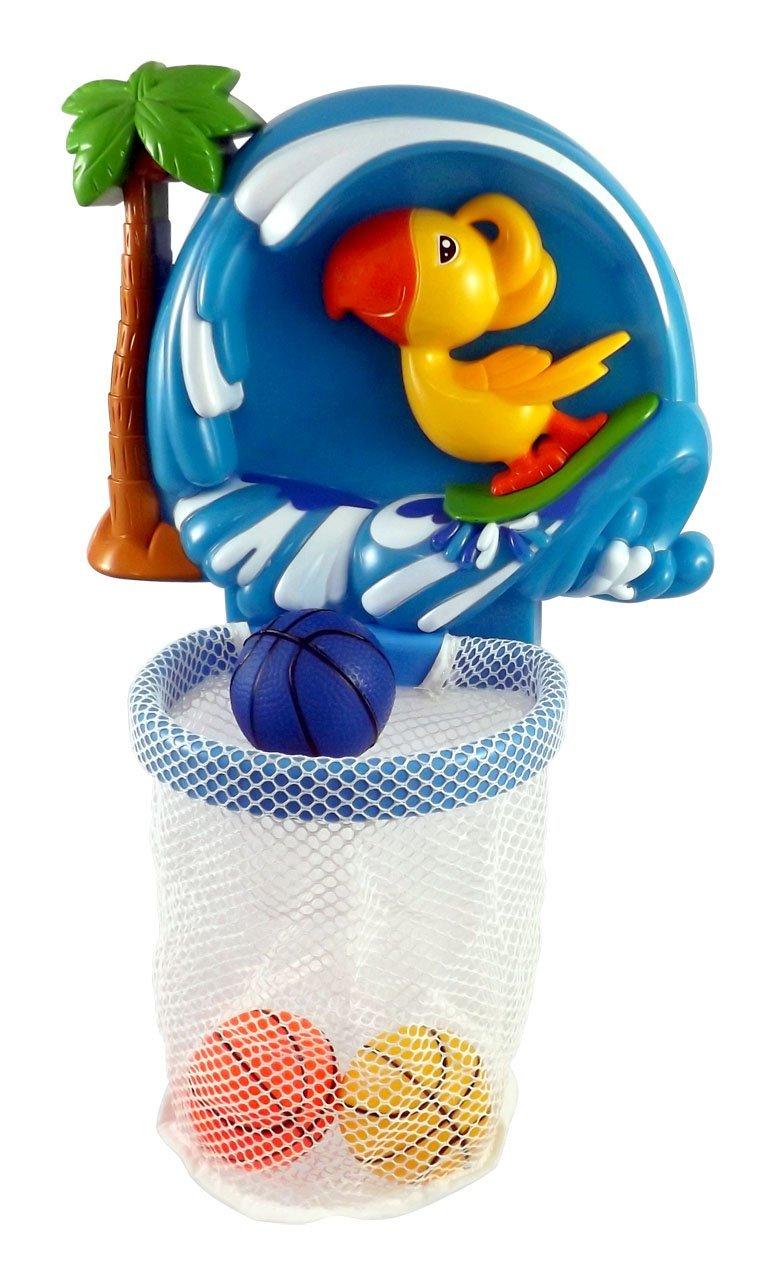 Shoot & Splash Basketball Hoop Bathtub Bath Toy for kids with 3 Balls