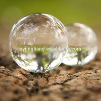 Supply small and large glass balls 16 mm glass xmas ball