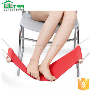 Portable Mini Office FootRest Stand adjustable Foot Hammock Rest