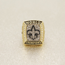 RG006 2009 New Orleans Saints Super Bowl Championship Ring Replica Football Alloy Sport man ring, Custom Sports ring
