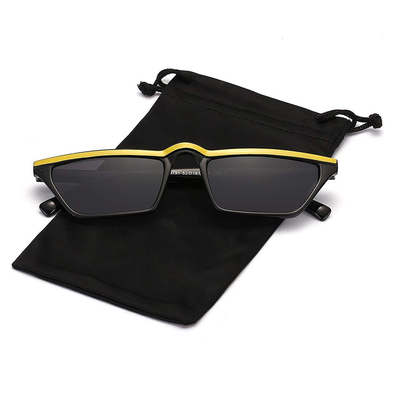 01fda41265 Get Quotations · Q Eye Cateye Sunglasses Square Frame Small Retro Vintage  Mod Stylish Sunglasses