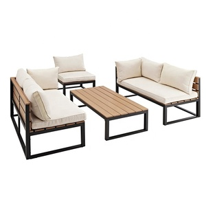 Design Cheap Patio Furniture Garden Metal Outdoor Sofa Set