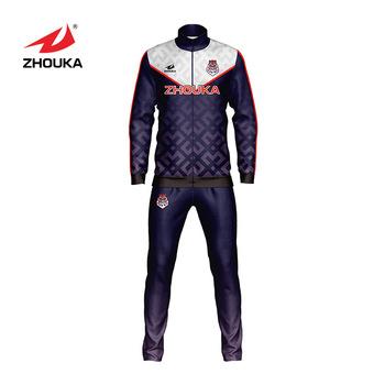 a17dbaeff7167 Zhouka Custom Thailand Quality Sublimated Printed Tracksuits Training  Sports Slim Fit Tracksuit Men Soccer Tracksuit - Buy Slim Fit Tracksuit ...