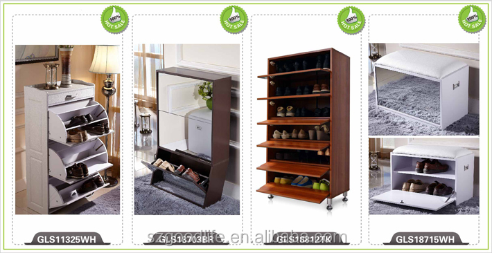 Goodlife New Style Modern Mirror Shoe Cabinet Furniture, Wooden Shoe Rack  Design Part 45