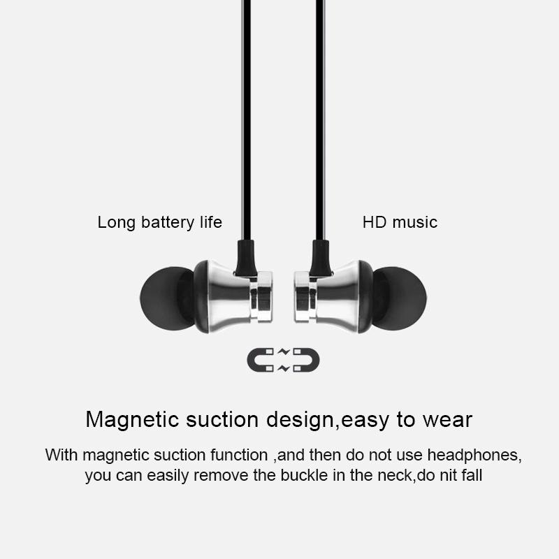 Factory Prices  Magnetic Earphones Colorful Bluetooth Stereo Earphone