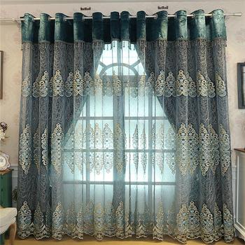 Custom High End Luxury European Curtains Screens Embroidery Gauze