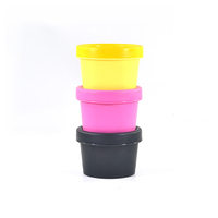 New cosmetic packing black pink yellow 50ml 100ml 150ml 200ml facial mask plastic cream jar