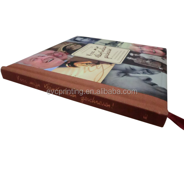 Fabric Paper Cover Notebook Printing with Gold Foil Stamping