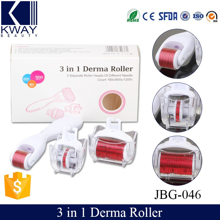Hot Sale 3 in 1 micro needling derma roller titanium For Skin Care.