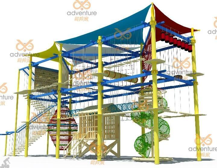 Popular Entertainment Park Children Indoor Rope Course