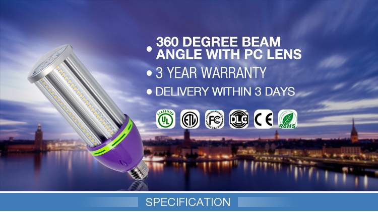 High quality 360 e27 e26 24w led corn bulb