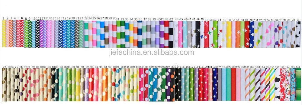 2017 Factory Price New Design Straw for Hot Drinking Paper Straws