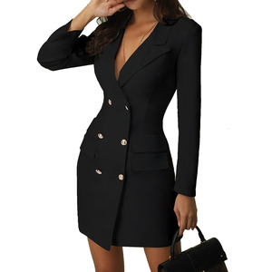 Wholesale lateste designs elegant women long sleeve pencil dress office lady wear