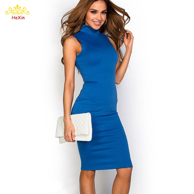 Blue black pink and blue dress style