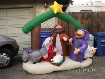 Nativity Inflatable Airblown Christmas Decoration Lights Up Holiday