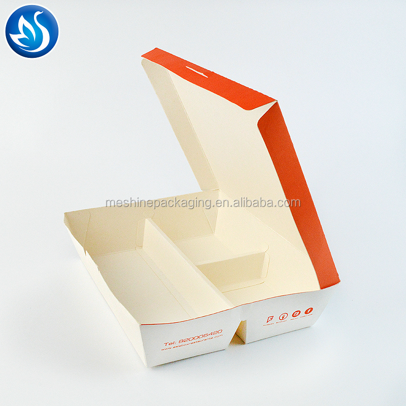 Customized LOGO printing disposable kraft paper fast food packaging box