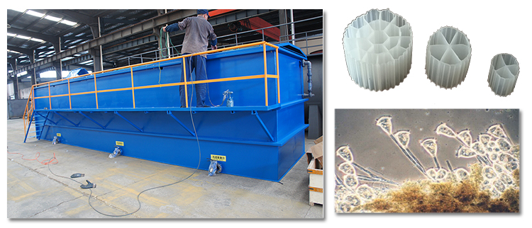 Containerized MBBR & MBR sewage treatment plant