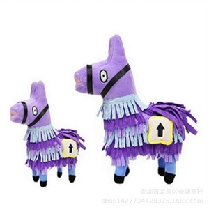 15 20 25 35 58cm purple llama alpaca stuffed plush toy fortnite intelligence horse toy
