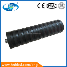 133 mm diameter impact rubber coated conveyor rollers for mining transport