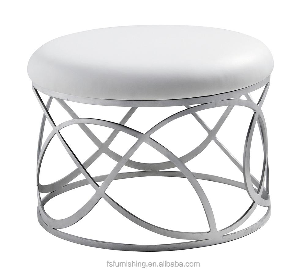 Jr 04 Moderno Contempor Neo Blanco Color Cristal Cuero Genuino  # Muebles Postmodernos