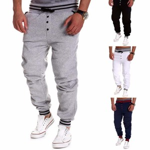 Wholesale Custom Leisure Sports Cotton Joggers Track Pants Slim Fit Blank Mens Sweat Pants