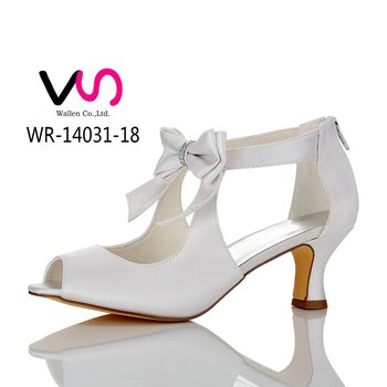 Nice 6cm High Heel Big Bow Vintage Handmade Bridal Shoes For Wedding Cheap Made In China Buy Low Heel Wedding Shoes Wedge Bridal Shoes Dyeable Satin