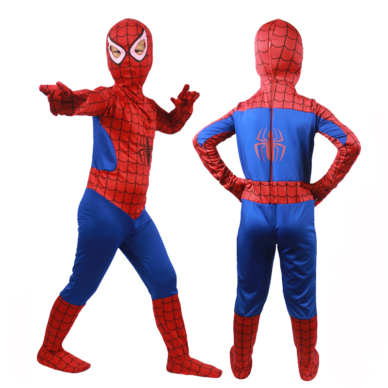 Hot Sale Movie Coser Fullbody Suit Kid Spiderman Costume