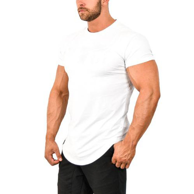 China Import Fitness T Shirts Wit Kleur
