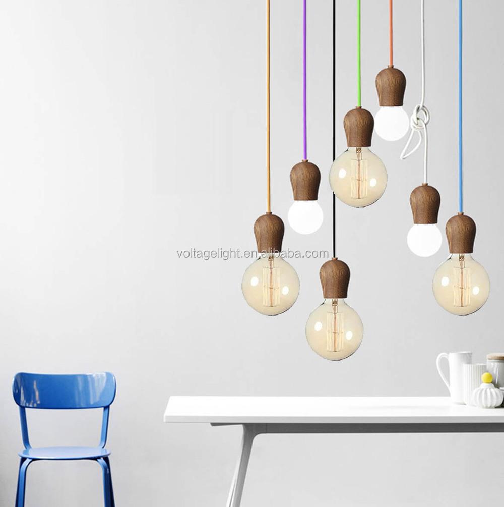 nieuwe ontwerp hete verkoop moderne houten lamp met edison ...