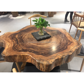 Living Room Furniture Unique Tree Trunk Table Modern Wooden Tea