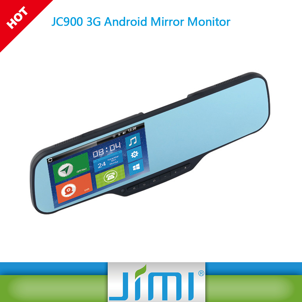rearview mirror gps android JC900 car safty DVR witness cameras into one state-of-the-art device car black box full hd