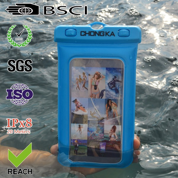 2016 cute pvc waterproof diving case for iphone 5