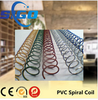 Plastic spiral wire ring for office binding