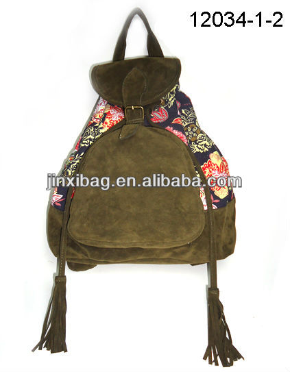 New style best selling fashion cute canvas backpack bag