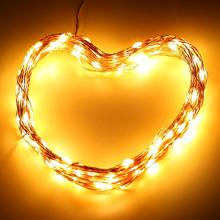 100 Leds 33 Ft Copper Wire,Warm White,Remote Control Outdoor String Lights,Dimmable Led String Lights Festival Led String