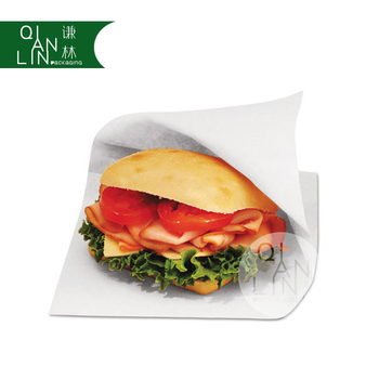 Food Grade Grease Resistant White Craft Paper Bag For Fast
