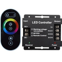 Hot sales ce rohs 12v 30a programmable rgb led strip light rf wireless touch remote control rgb led controller manual