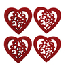 Felt Heart Shape Cup Heat Insulation Resistant Mat Pad Coasters 4pcs