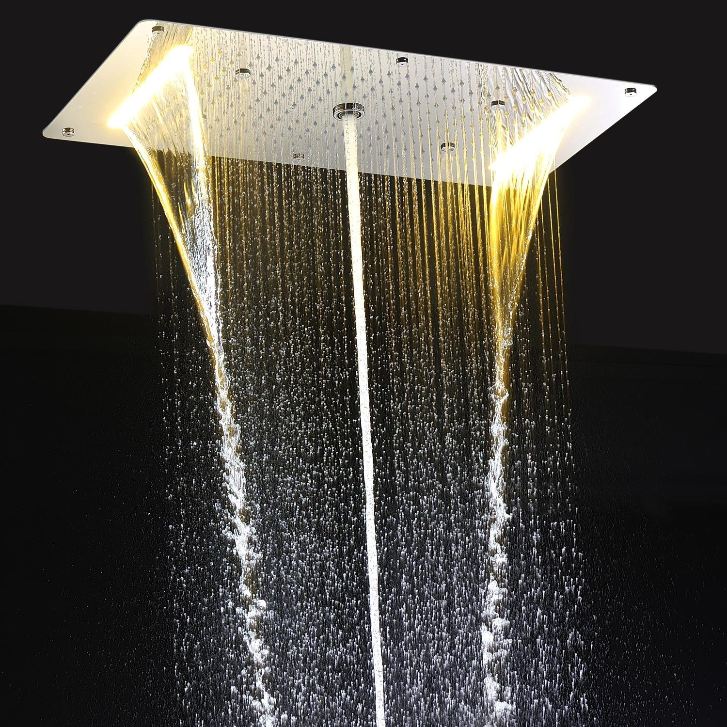 Buy Onlt 9 Function Led Shower Head Light Rain Shower