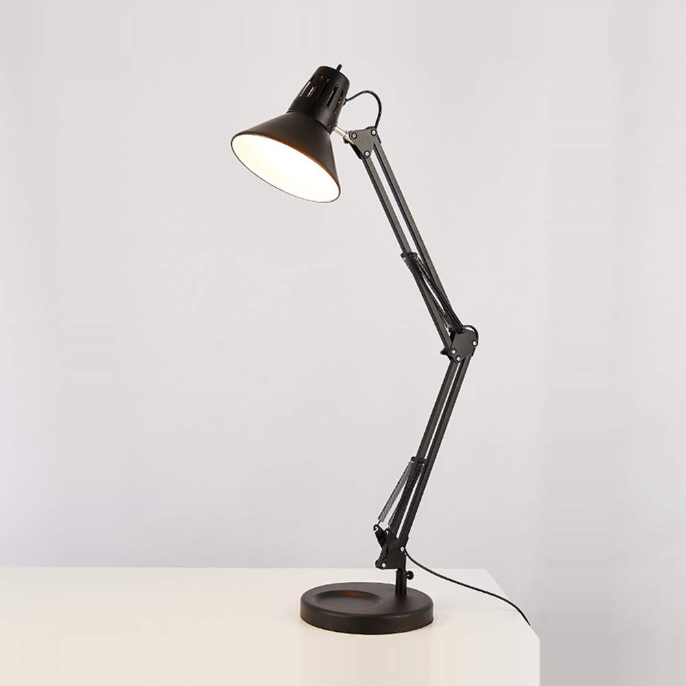 Qzny Table Lamp,Eye-Care,Long Arm Folding Table Lamp,Student Reading Light,Desk Lamp,Bedside Lamp,Working,Studying,A