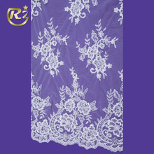 LF-230R1 Stone On Mesh 100 Polyester French Dress Beaded Embroidery Lace Fabric