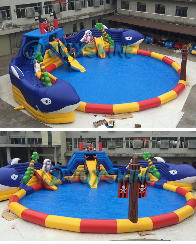 Bear Theme Waterpark Playground Giant Water Games Slides Pool Commercial Water Park Slide Inflatable For Sale