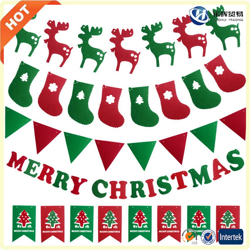2017 wholesale felt best selling christmas items for christmas decoration