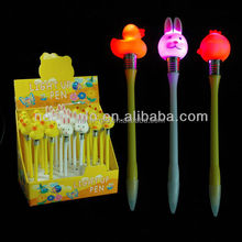 Promotional LED Animal Shaped Pen with Smooth Writing for Kids