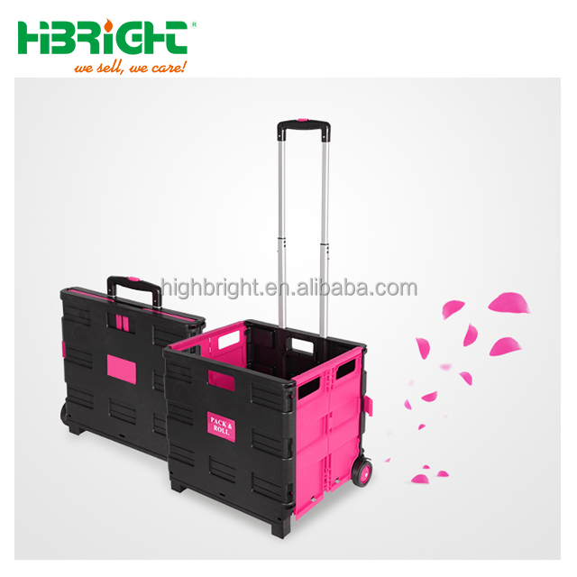 pink plastic folding shopping carts