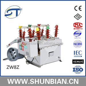 Zw8 10kv 11kv 630a 1250a high voltage vacuum circuit breaker