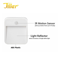 Battery Powered Bright LED Wireless PIR Motion Sensor Light indoor and outdoor