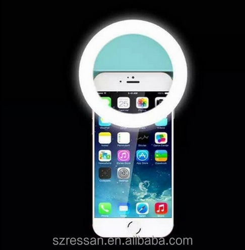 Universal Smartphone ring light with big clip 24 LED Photography Flash Fill Light for All IOS&Andriod